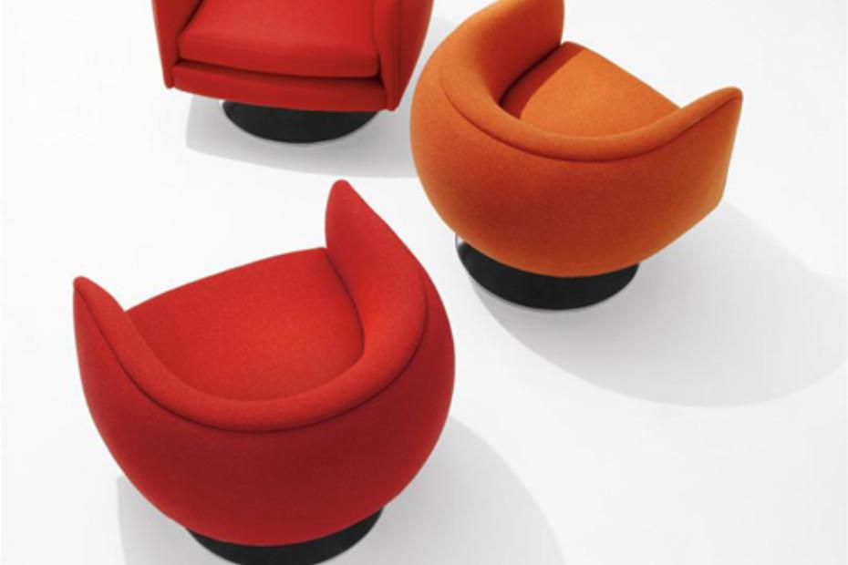 D'urso Swivel Lounge Chair