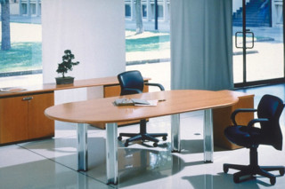 Pascal desk and conference table oval  by  Knoll