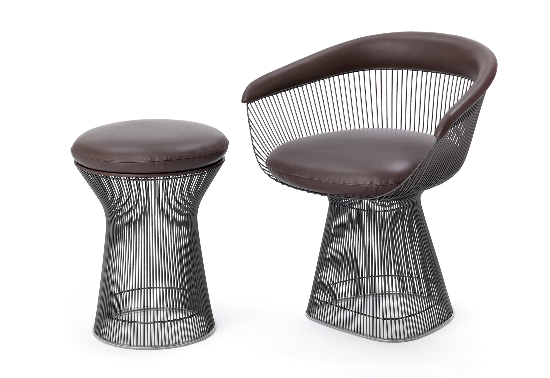 Remarkable Platner Lounge Stool By Knoll Stylepark Spiritservingveterans Wood Chair Design Ideas Spiritservingveteransorg