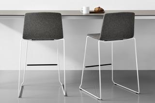 Rama stool upholstered  by  Kristalia