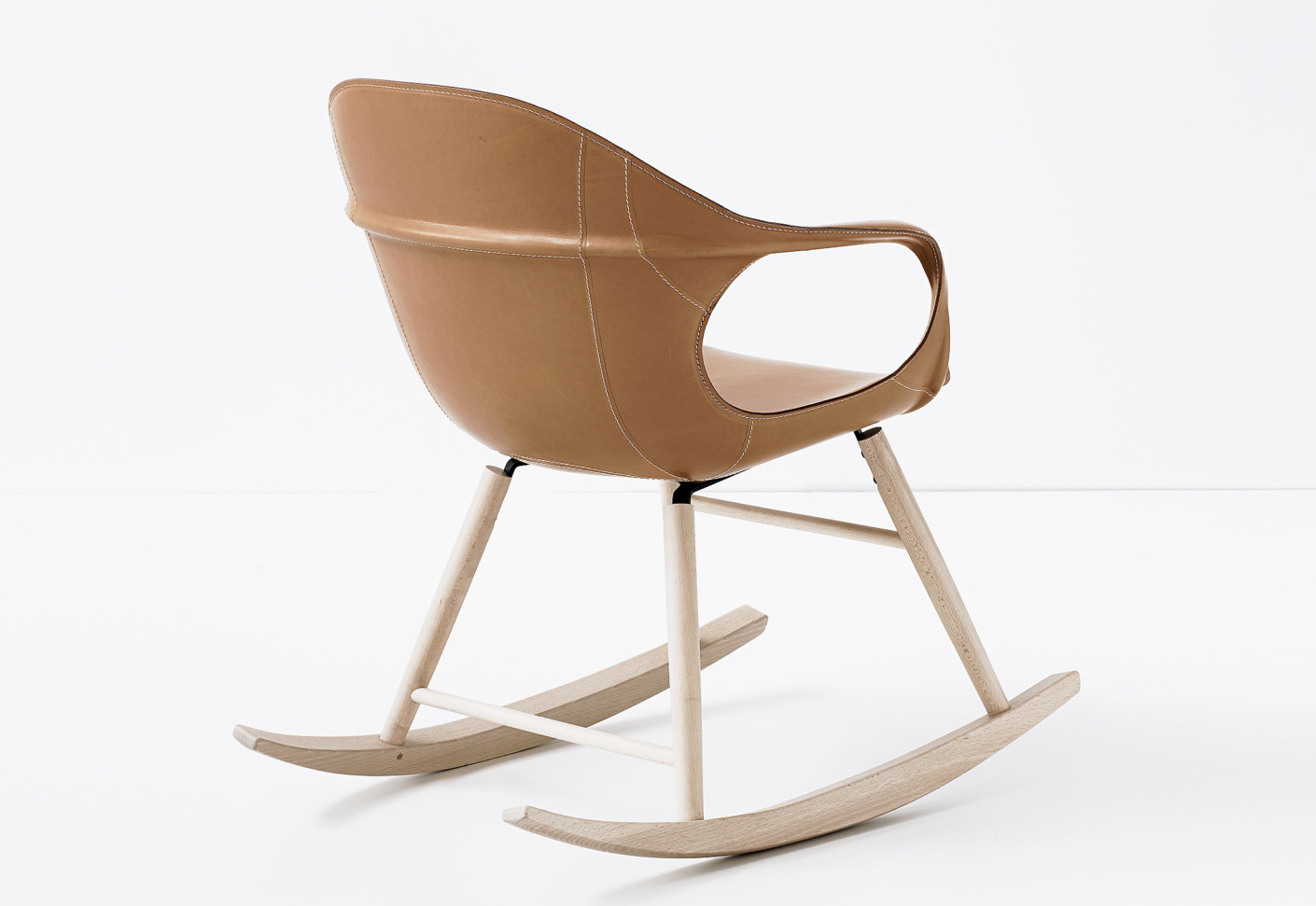 Elephant leather rocking chair by kristalia stylepark
