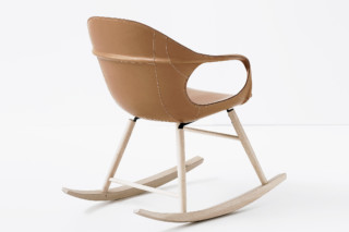 Elephant leather rocking chair  by  Kristalia