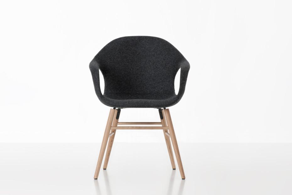 Elephant upholstered wood base