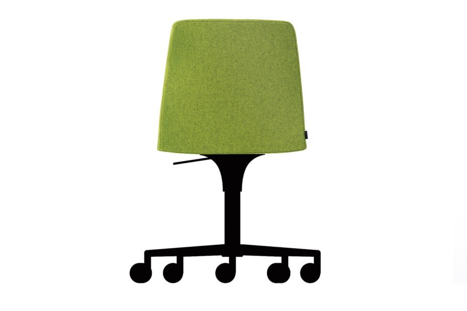 Plate Drehstuhl auf Rollen