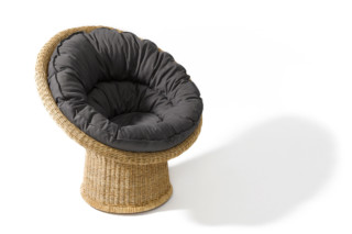 E10 rattan chair with cushion  by  Lampert