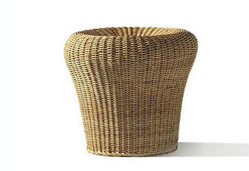 rattan hocker e 14 von lampert stylepark. Black Bedroom Furniture Sets. Home Design Ideas