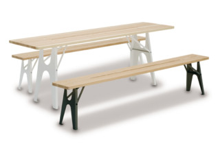 Table and  bench Ludwig  by  Lampert