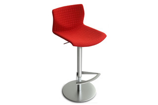Kai bar stool upholstered  by  Lapalma