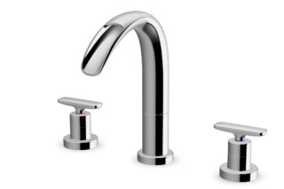 Curveprime Open three-hole wash basin mixer  by  Laufen