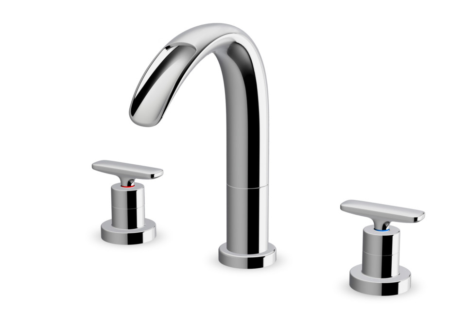 Curveprime Open three-hole wash basin mixer