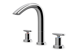 Curveprime three-hole wash basin mixer  by  Laufen