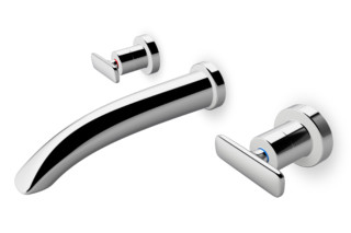 Curveprime two-handle concealed wall mixer  by  Laufen