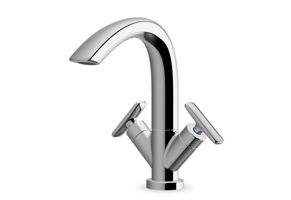 Curveprime  two-handle wash basin mixer