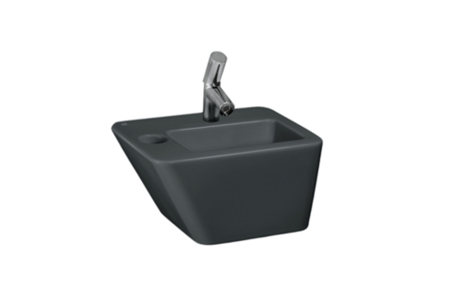 Il Bagno Alessi dOt small washbasin with integrated siphon cover