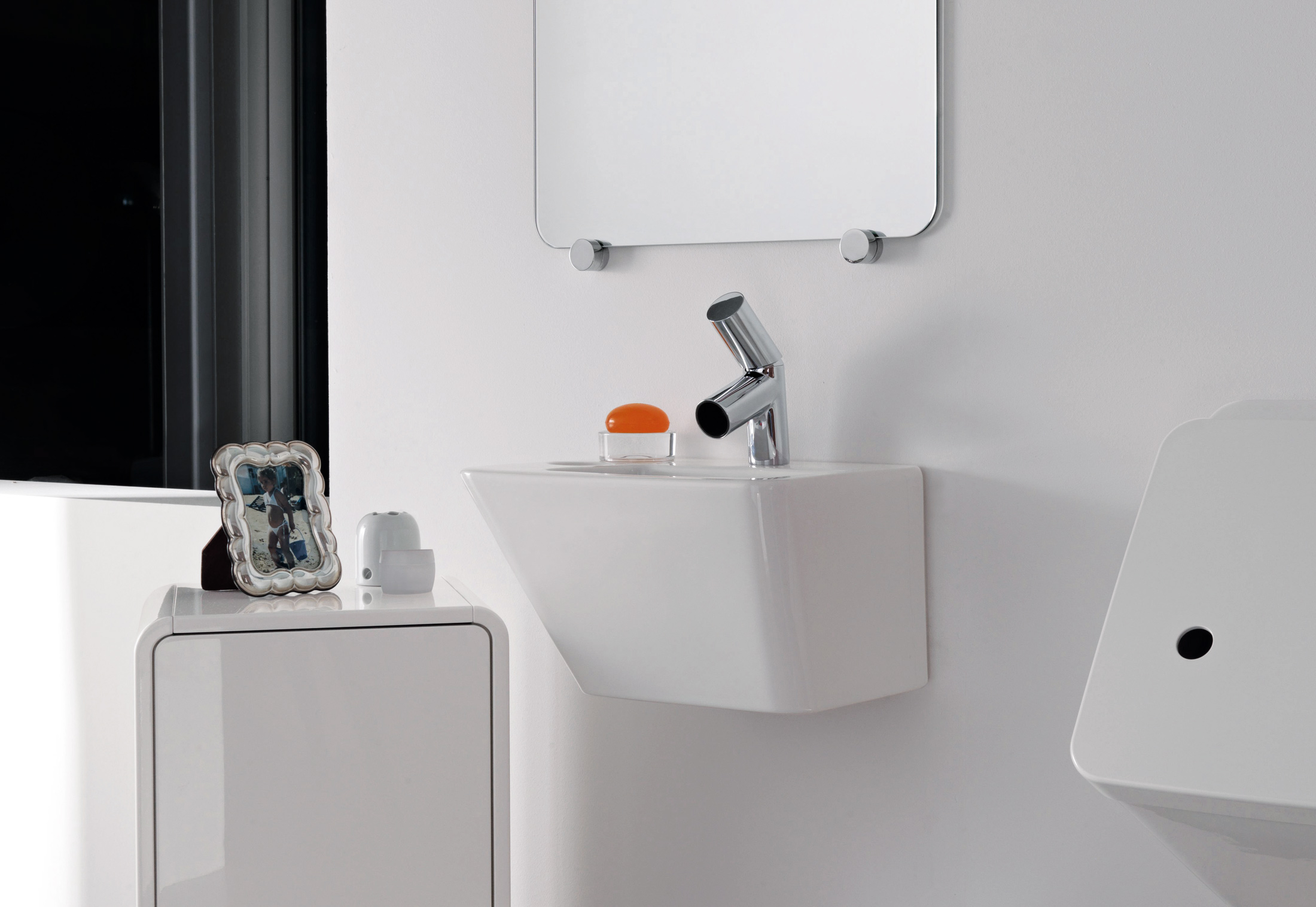 Il Bagno Alessi dOt small washbasin with integrated siphon cover by ...