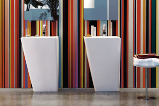 Il Bagno Alessi dOt washbasin with integrated pedestal  by  Laufen