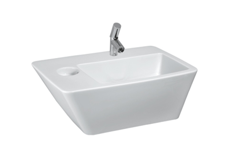 Il Bagno Alessi dOt washbasin with integrated siphon cover