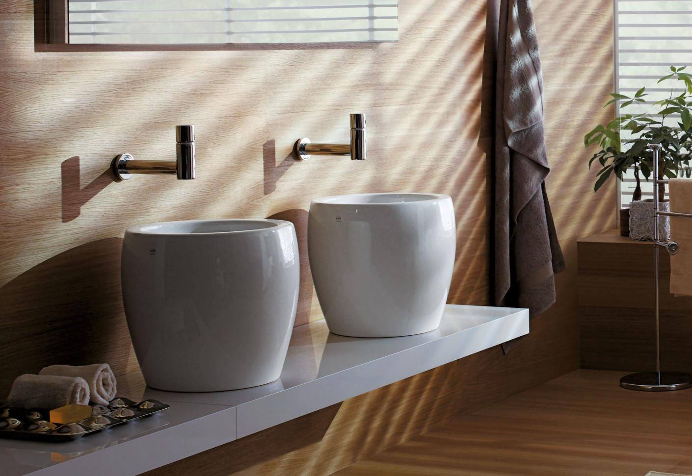 il bagno alessi one double washbasin half tam tam by. Black Bedroom Furniture Sets. Home Design Ideas