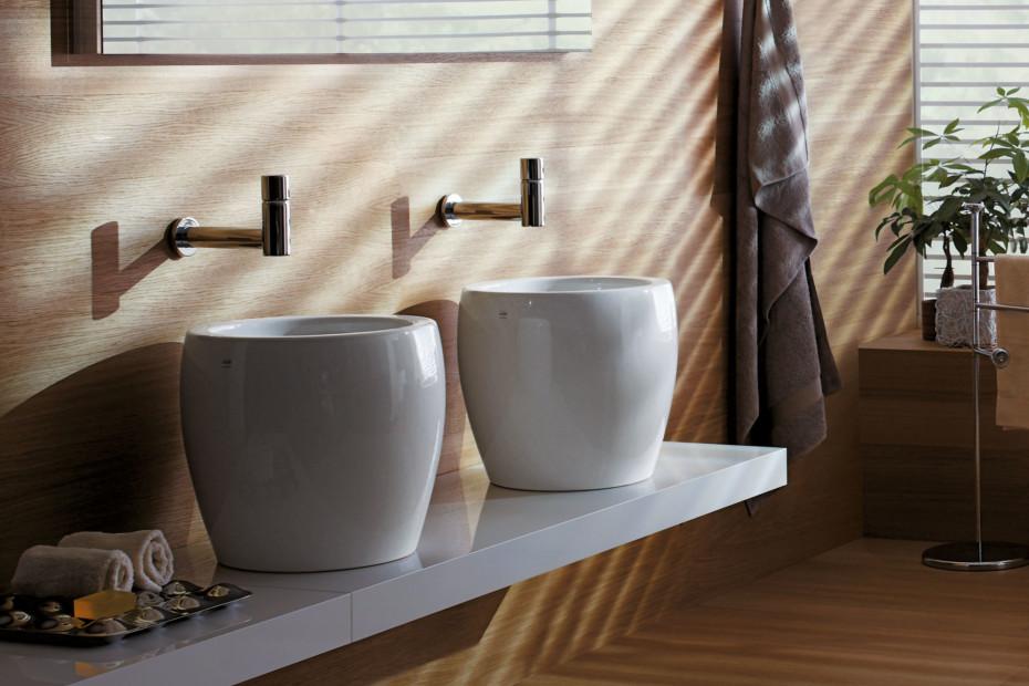 Il Bagno Alessi One double washbasin half Tam Tam