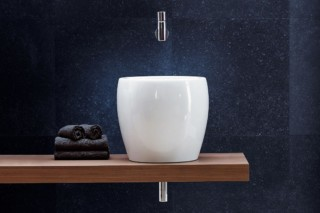 Il Bagno Alessi One single washbasin half Tam Tam  by  Laufen