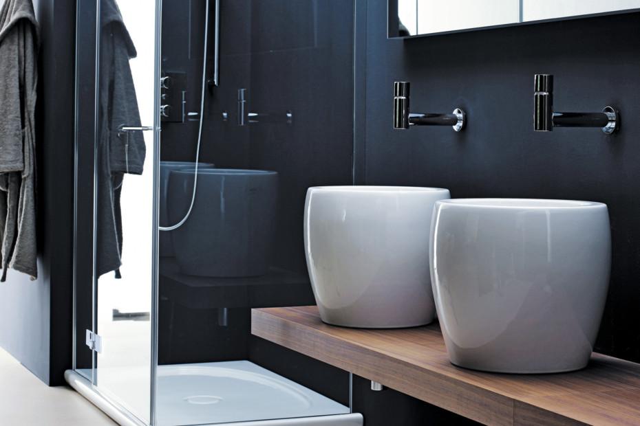 Il bagno alessi one single washbasin half tam tam by laufen stylepark - Il bagno magazine ...