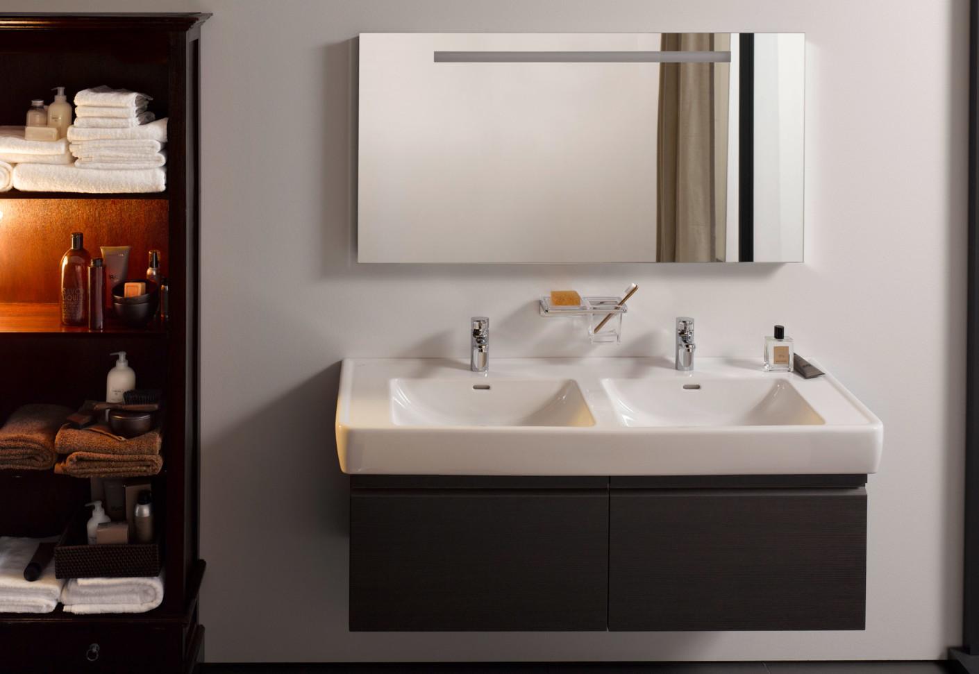laufen pro doppelwaschtisch von laufen stylepark. Black Bedroom Furniture Sets. Home Design Ideas