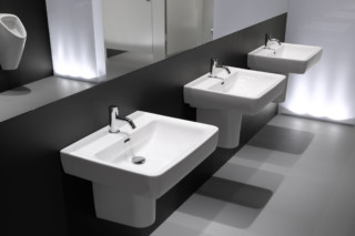 Laufen pro wash basin A with semi-pedestal  by  Laufen