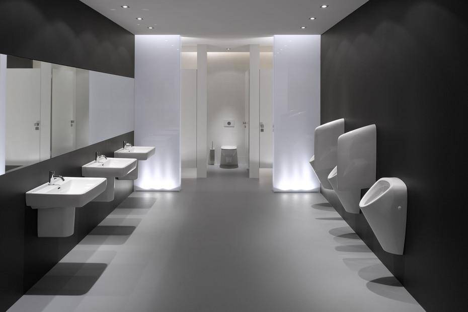 Laufen pro wash basin A with semi-pedestal