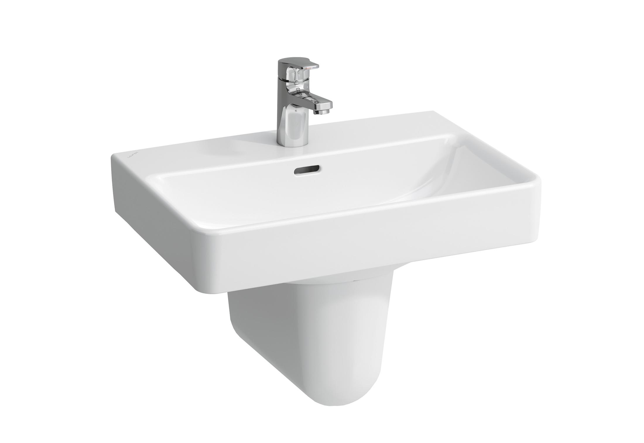 laufen pro washbasin s with semi pedestal by laufen stylepark. Black Bedroom Furniture Sets. Home Design Ideas