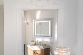 Lb3 square mirror  by  Laufen