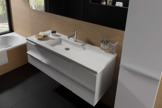 Living square bath cabinet  by  Laufen