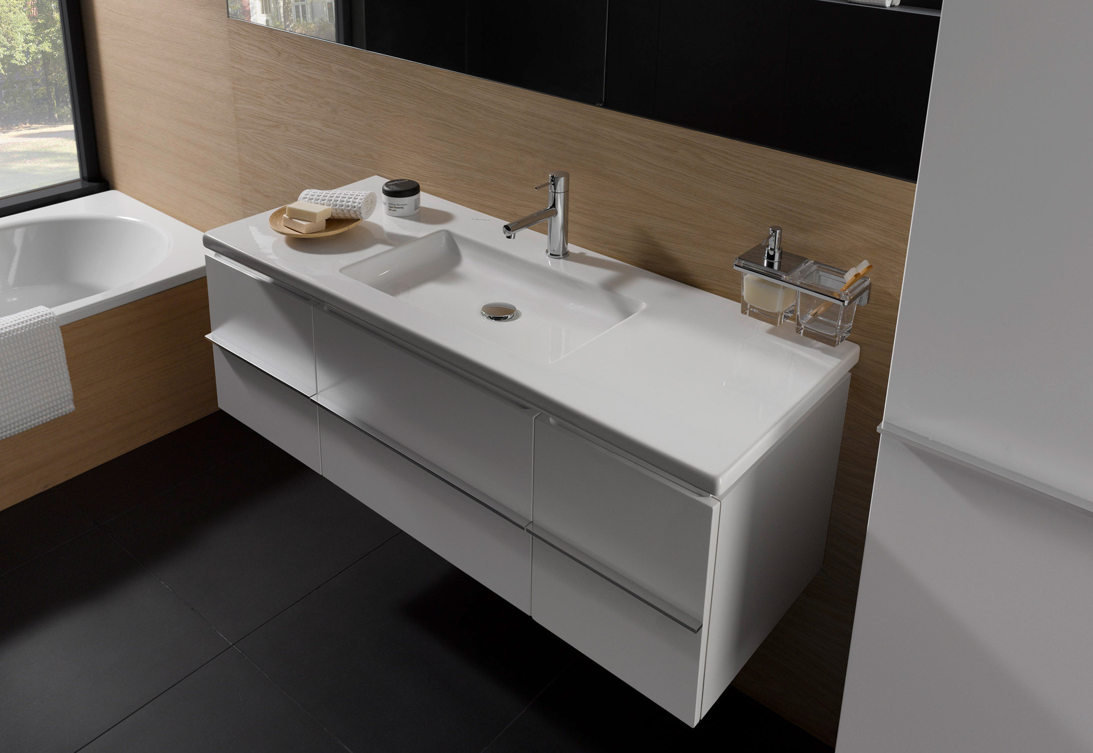 living square vanity unit large by laufen stylepark. Black Bedroom Furniture Sets. Home Design Ideas