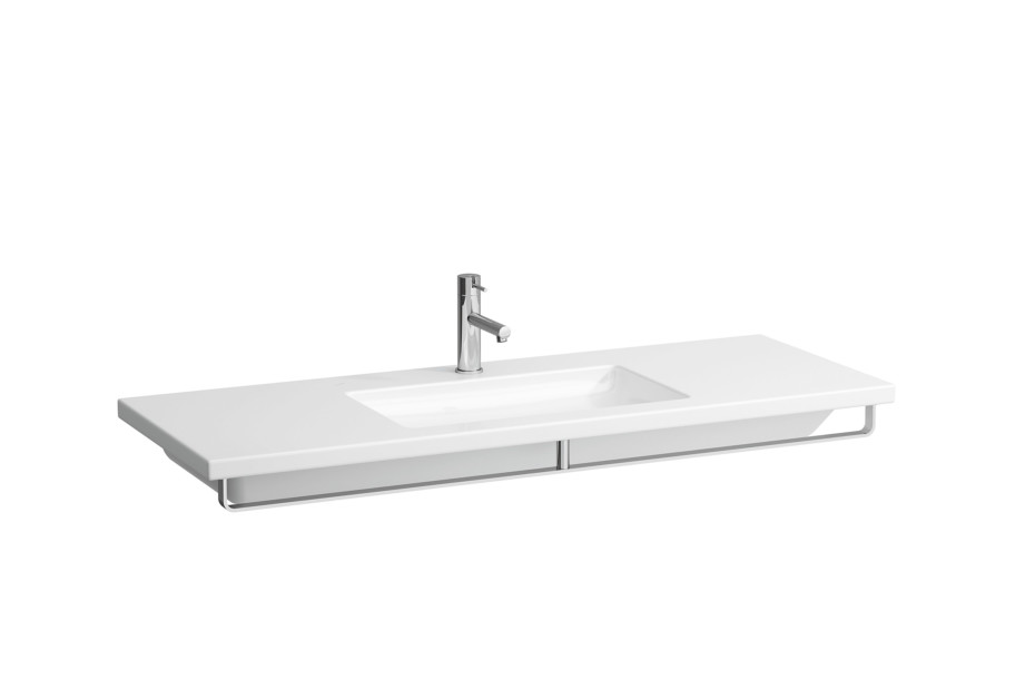 Living square wash basin with towl holder