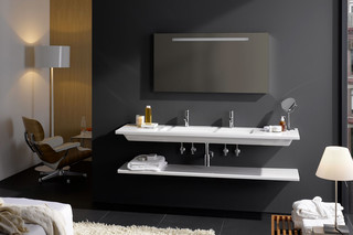 Living square washbasin large  by  Laufen