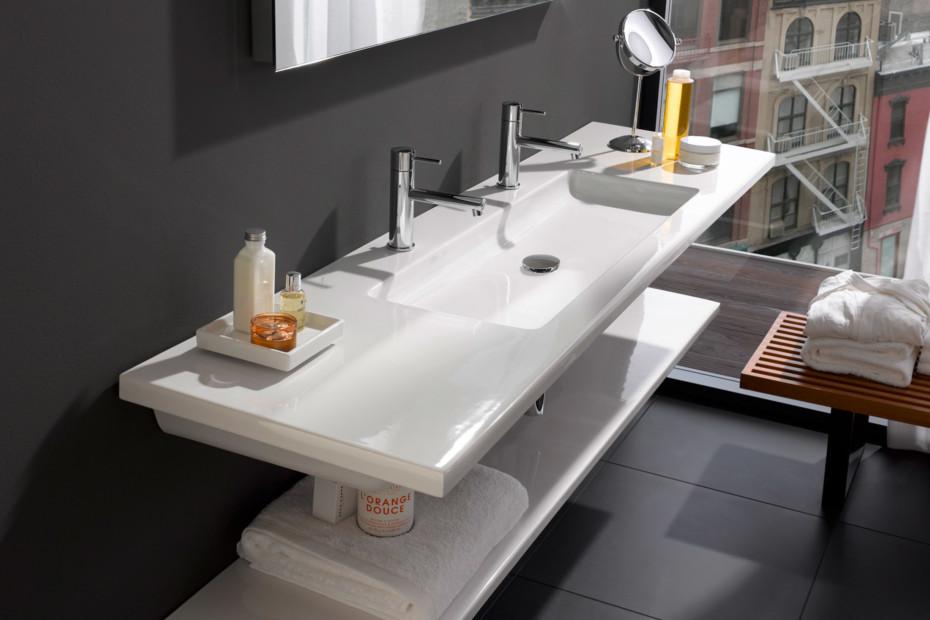 Living square washbasin large