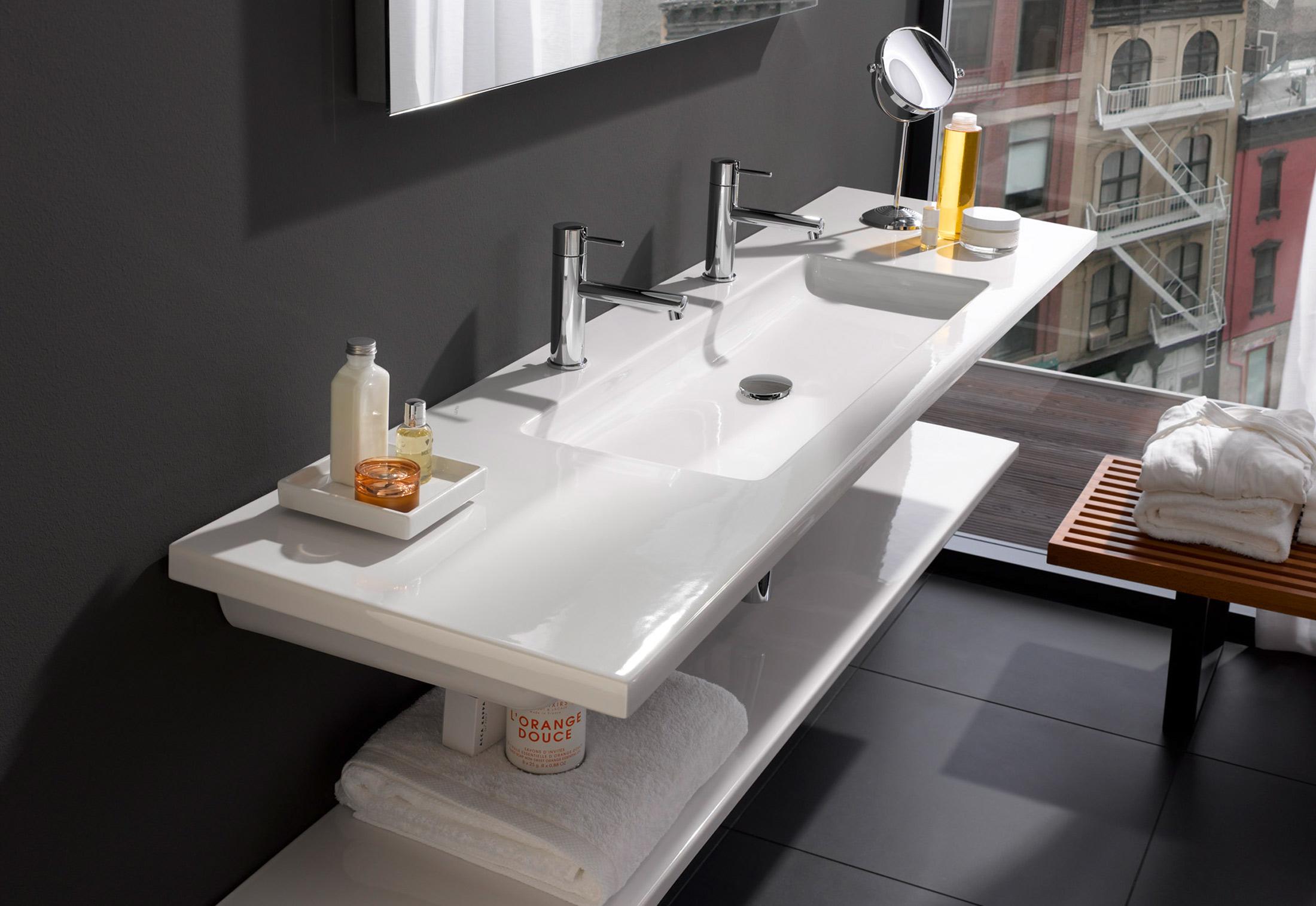 living square waschtisch breit von laufen stylepark. Black Bedroom Furniture Sets. Home Design Ideas