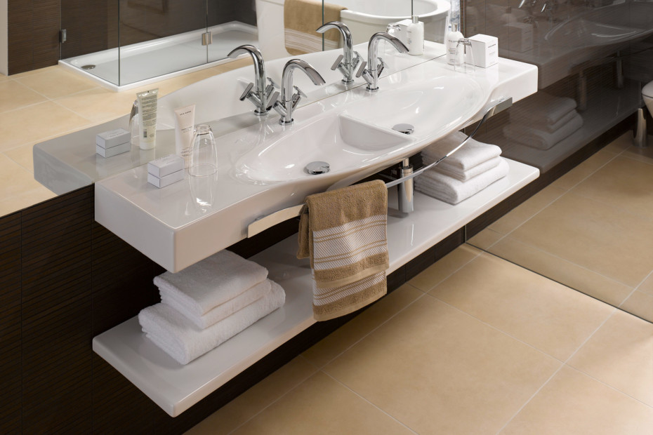Palace double countertop washbasin