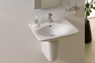 Palace washbasin with short pedestal  by  Laufen