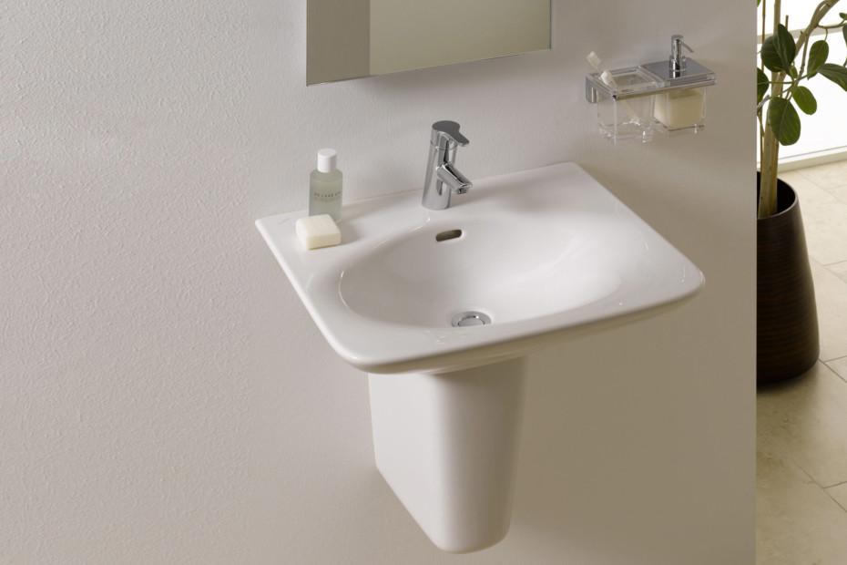 palace waschtisch mit kurzer s ule von laufen stylepark. Black Bedroom Furniture Sets. Home Design Ideas