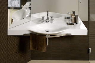 Palace washbasin with towel rail  by  Laufen