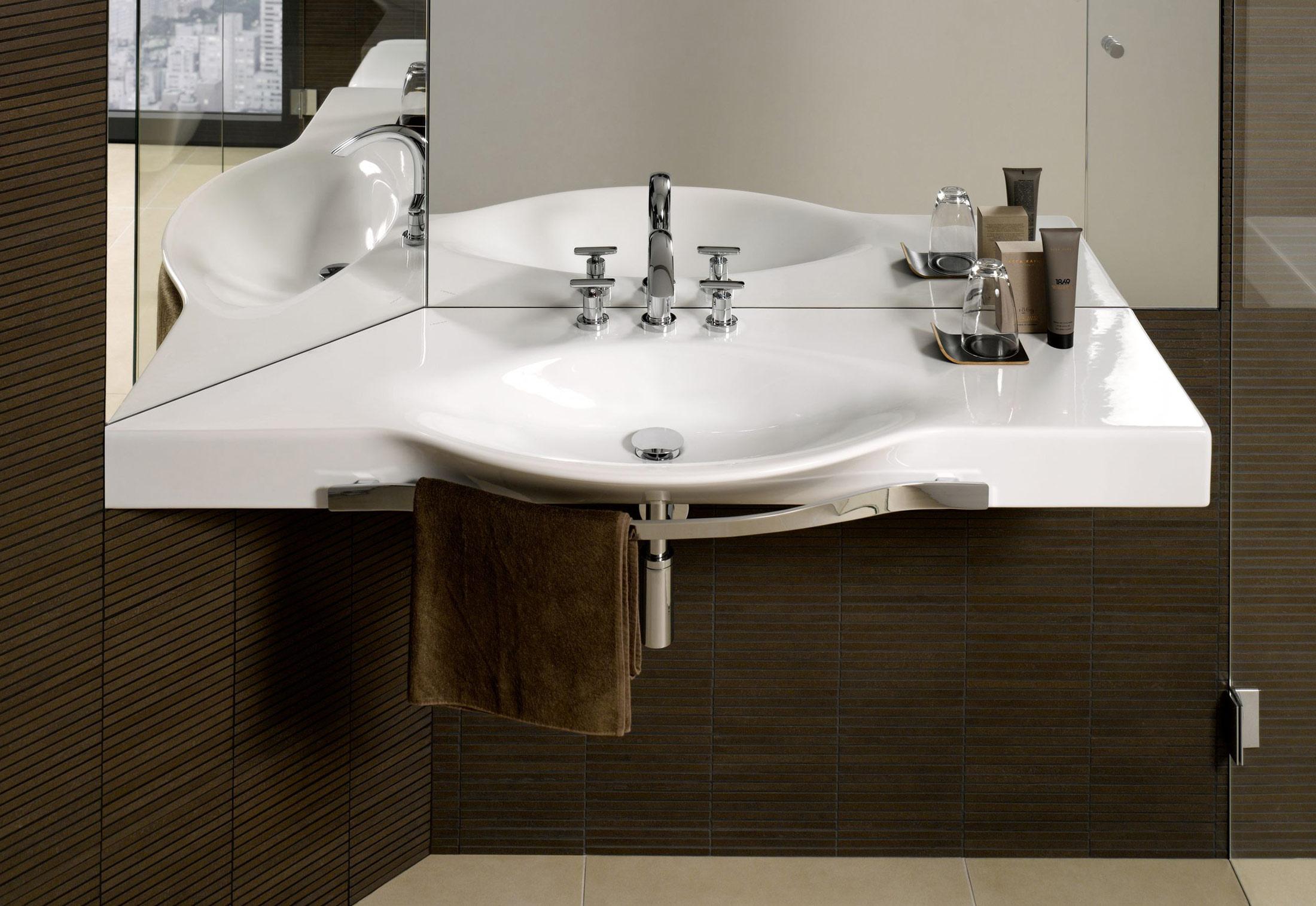 palace waschtisch mit handtuchhalter von laufen stylepark. Black Bedroom Furniture Sets. Home Design Ideas
