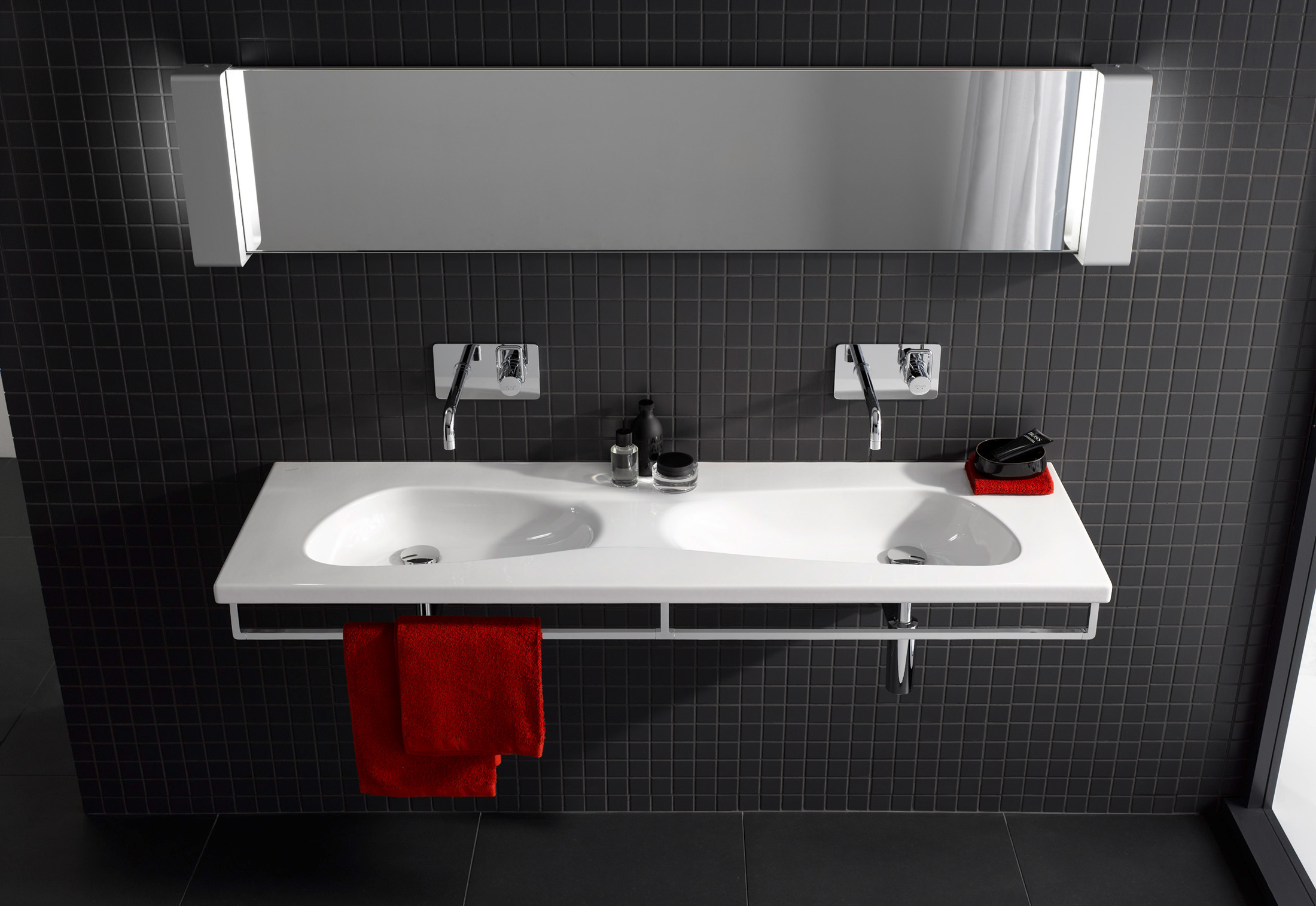 palomba organic double washbasin by laufen stylepark. Black Bedroom Furniture Sets. Home Design Ideas