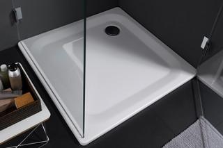 Platina Corner steel shower base  by  Laufen