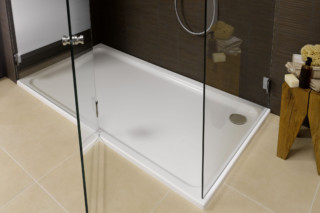 Platina steel shower base  by  Laufen