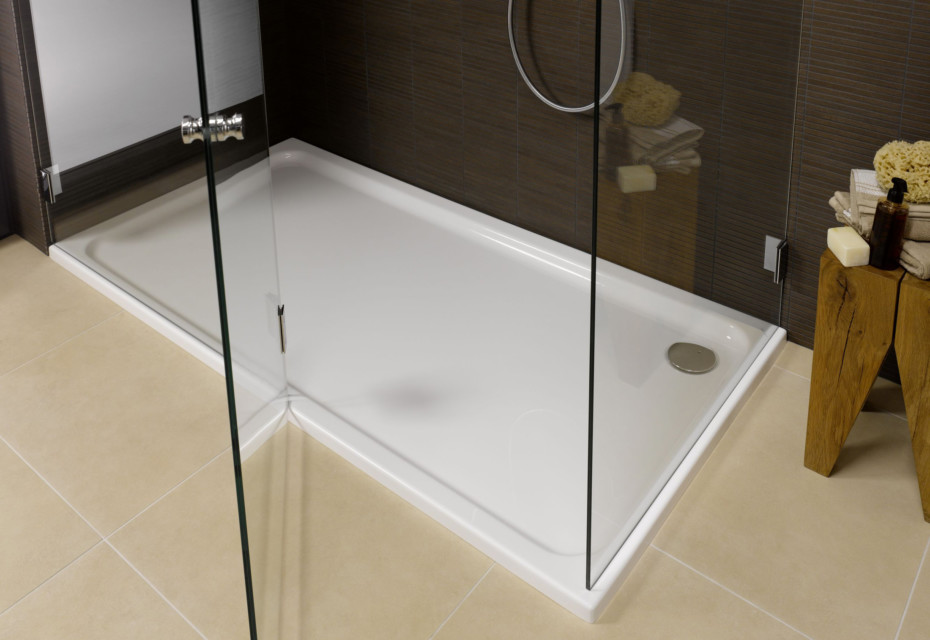Platina steel shower base