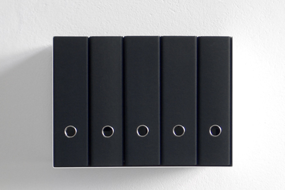 linea1 c ring binder shelf