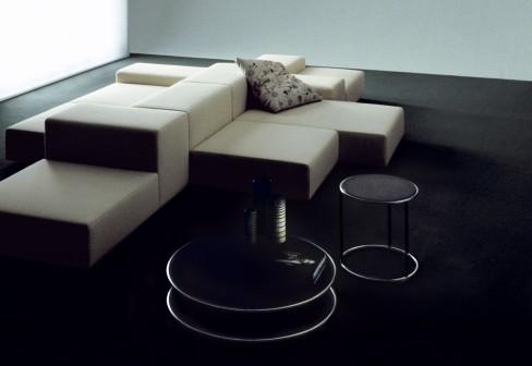 extra wall sofa von living divani stylepark. Black Bedroom Furniture Sets. Home Design Ideas