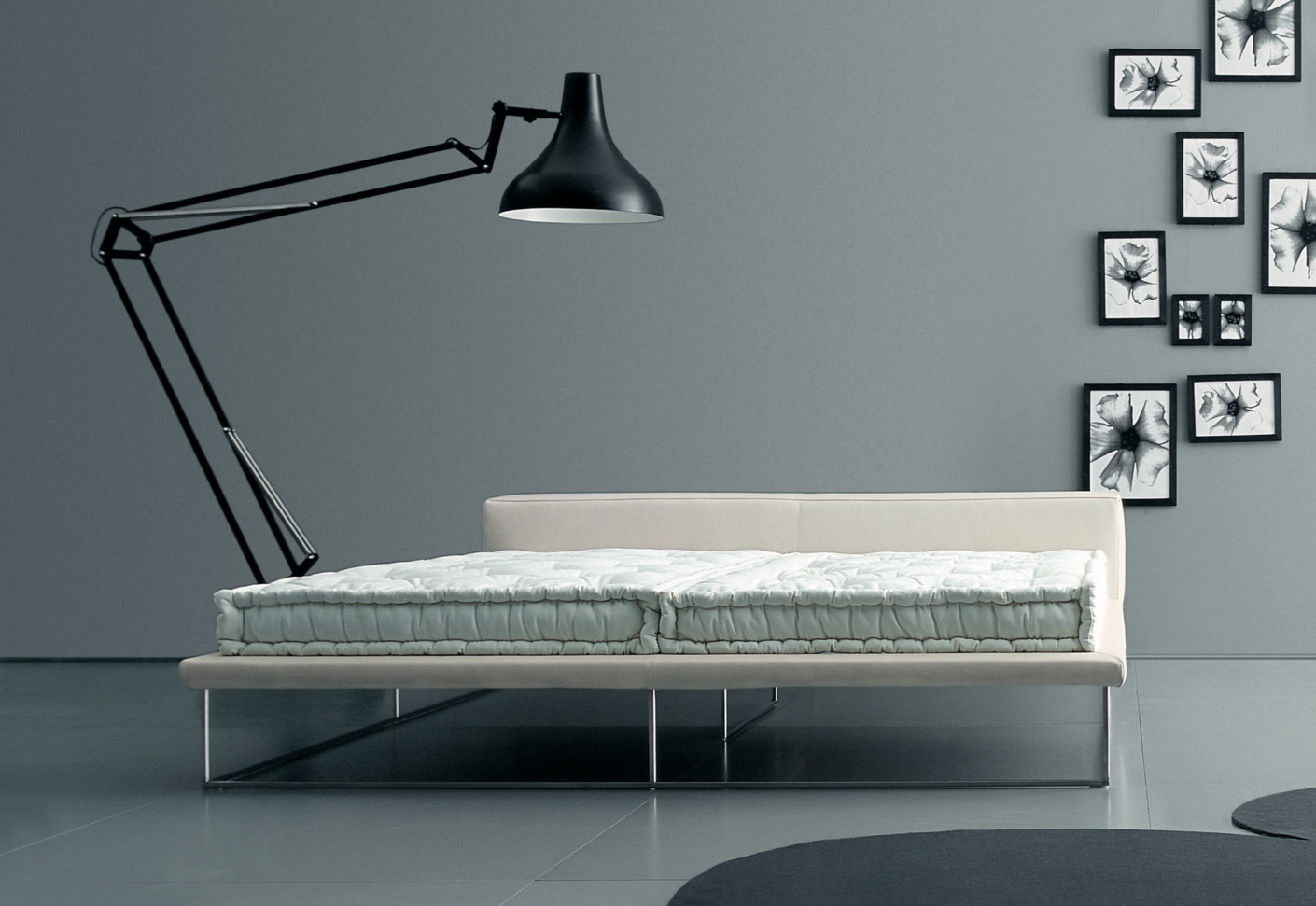 le bett von living divani stylepark. Black Bedroom Furniture Sets. Home Design Ideas