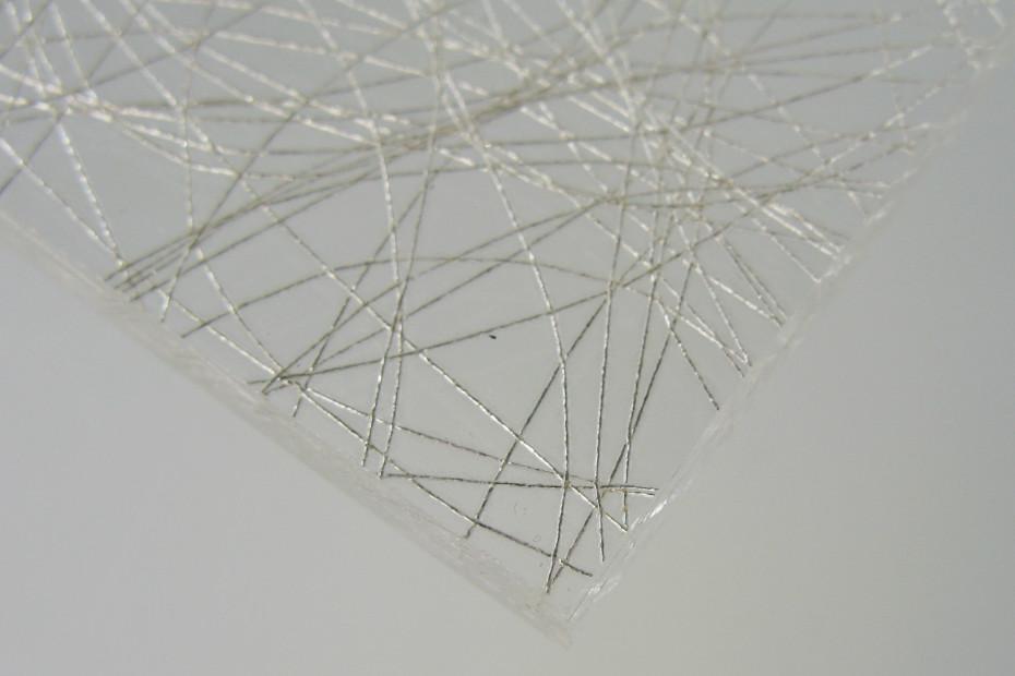 Silver Spun resin panel