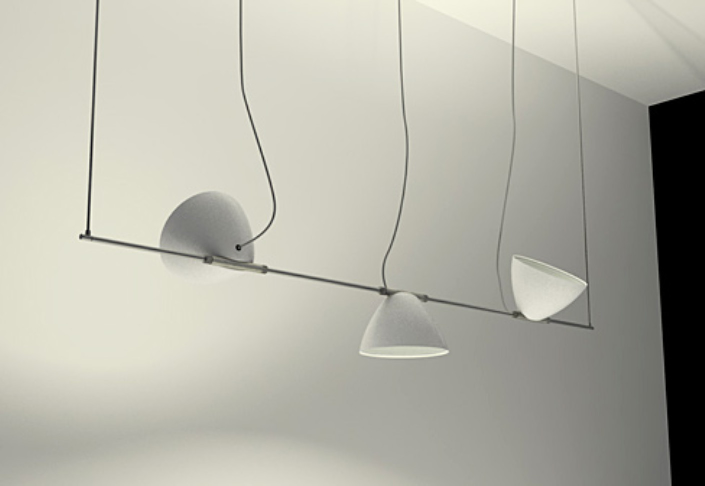 Omicron Pendant luminaire 3 shades by Lumina Italia  STYLEPARK